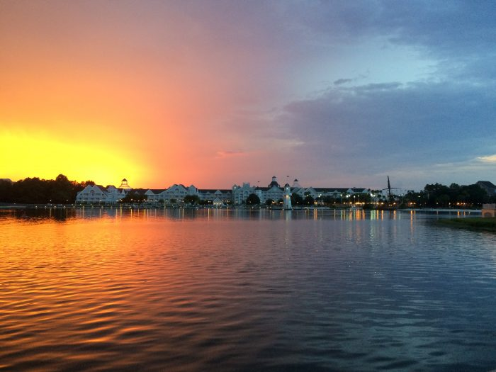 Watching the sunset over Disney's Yacht Club Resort never gets old! Photo by Danny McBride