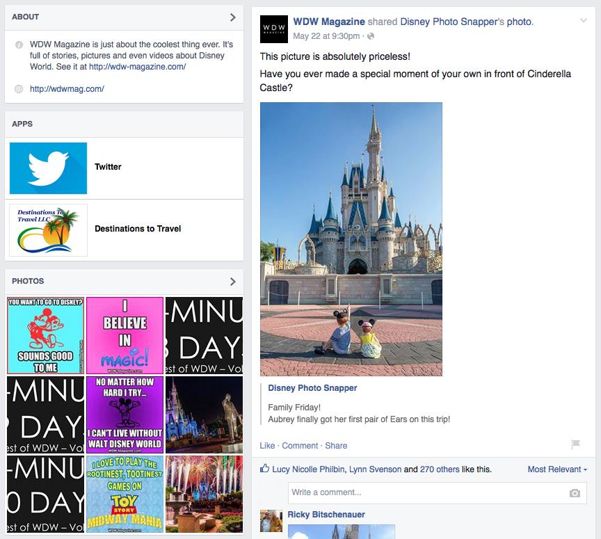 facebook screenshot wdw mag 1
