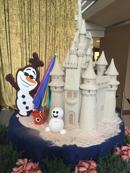 Part of the Contemporary Resort's Mary Blair inspired Frozen themed Gingerbread Display. Photo by Jason Dick.