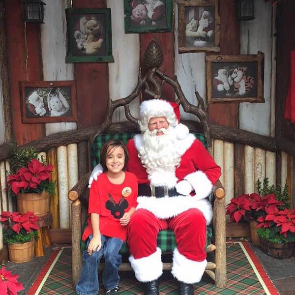 Meet Santa at Disneyland! Photo by Tiffany Gonzales.