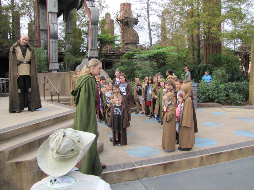 Padawans receiving instruction from the Jedi Masters. Photo by Kim Masimore.