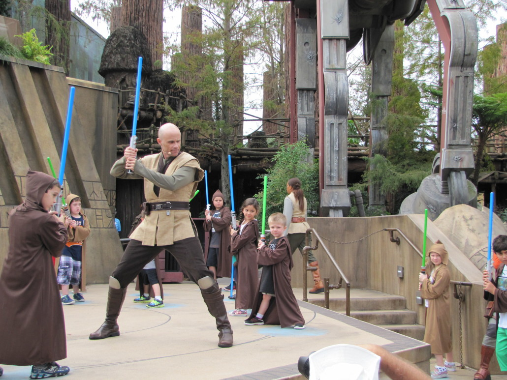 Learning to use the Lightsabers. Photo by Kim Masimore.