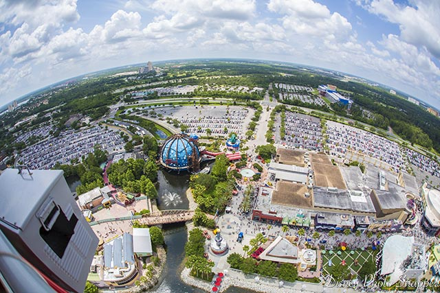 A birds yet view of Disney Springs