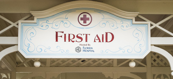 First Aid at WDW - photo by Laurie Sapp.