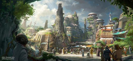 Star Wars Land concept art courtesy of Disney Parks Blog.