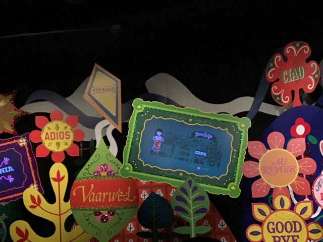 """The personalized goodbye on """"it's a small world"""" is AWESOME!"""