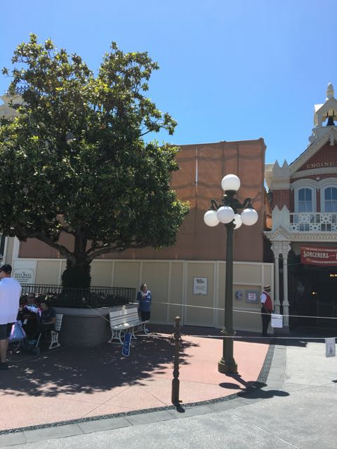 Bathrooms on Main Street U.S.A. being refurbished.