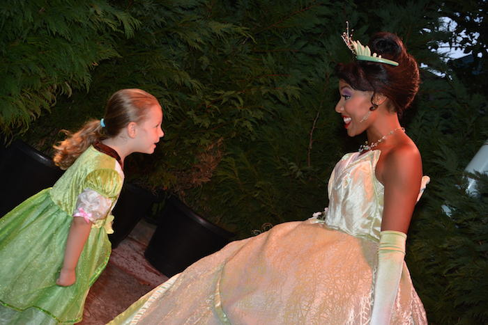 Princess Tiana holds meet and greets at WDW - photo courtesy of Amy Bashor