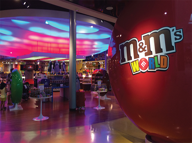 Take a trip over to M & M's World.