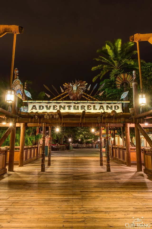 the gates of Adventureland