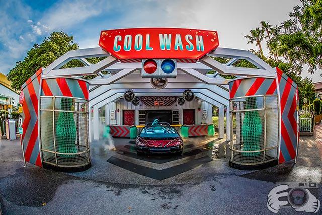 Washing a car is really a fun thing for boys at Walt Disney World
