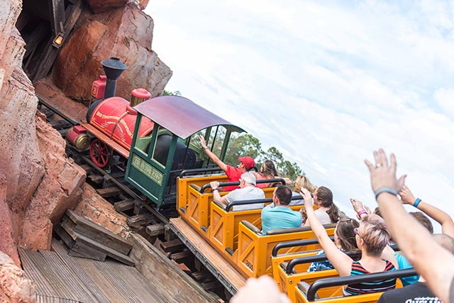 Big Thunder Mountain Railroad is one of the easy Walt Disney World thrill rides for Pooh sized people