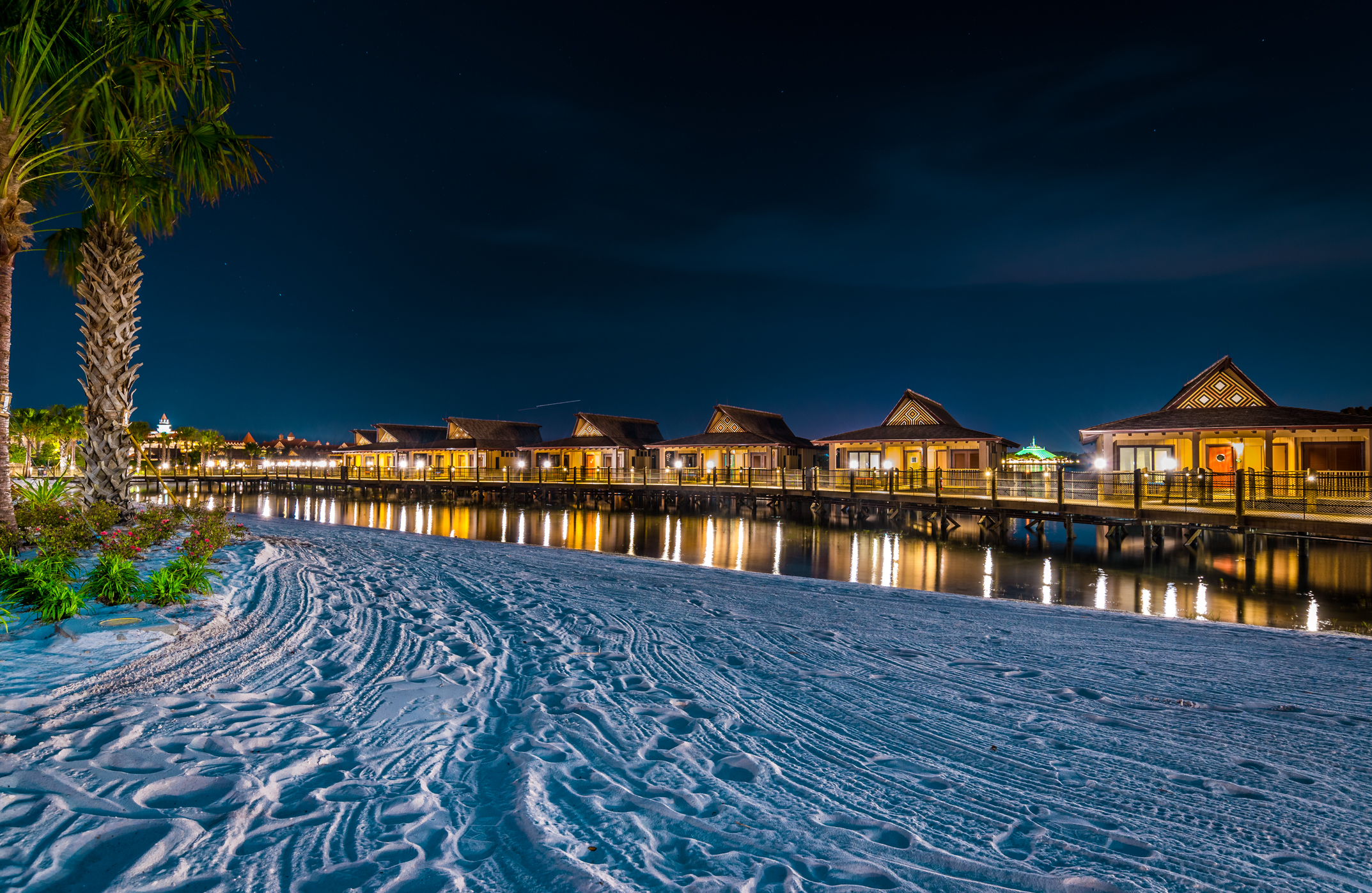 Polynesian Village  is one of our Top 5 Disney Hotels - After Dark!