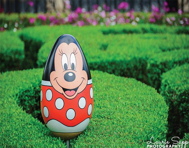 A Mickey Easter Egg topiary at the Flower and Garden Festival