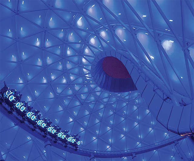 Concept art for the Tron Roller Coaster