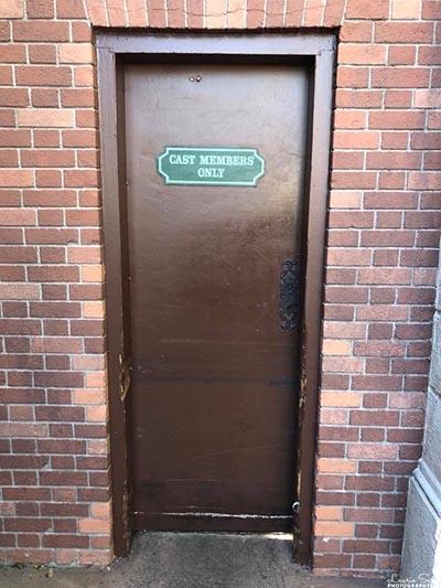 A Cast Member Only door