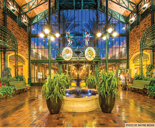 The lobby of the Port Orleans French Quarter