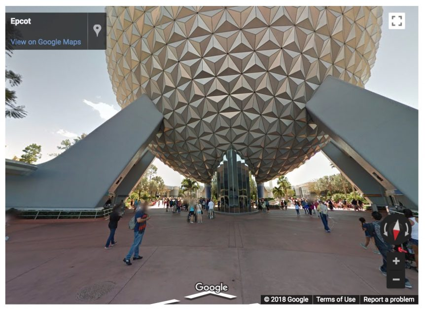 google street view of epcot
