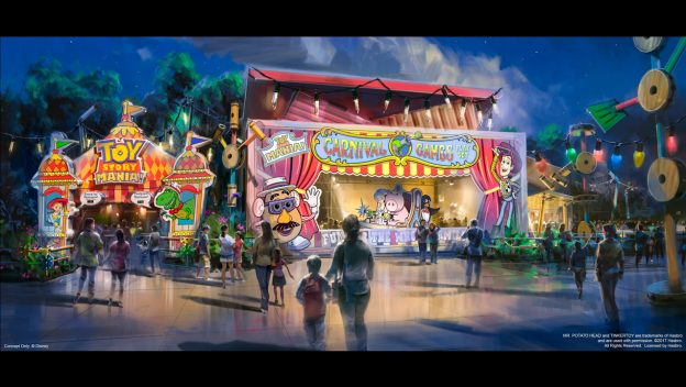 The entrance to Toy Story Mania