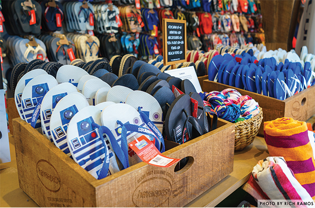 The flip flops at Havaianas Gift Shop