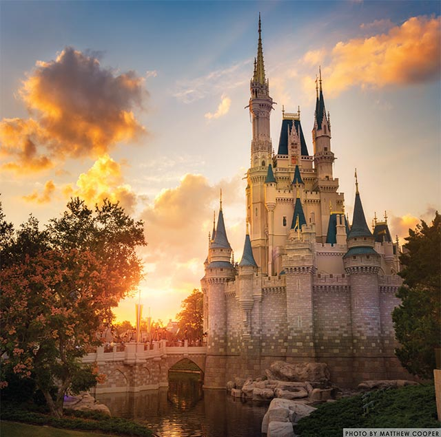 Sunrise over Cinderella Castle