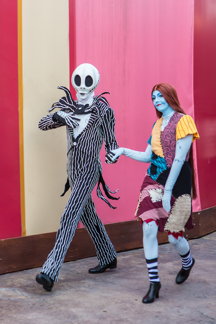 jack and sally - what does disney world look like at halloween