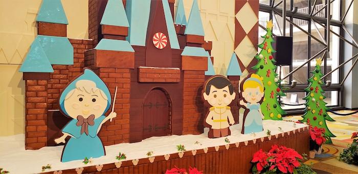 Christmas gingerbread display at Contemporary Resort