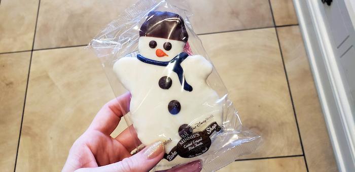 Disney World Christmas snowman treat
