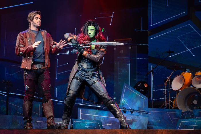 Star-Lord and Gamora in Awesome Mix Live