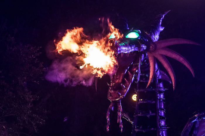 Maleficent at Night what does disney world look like at halloween