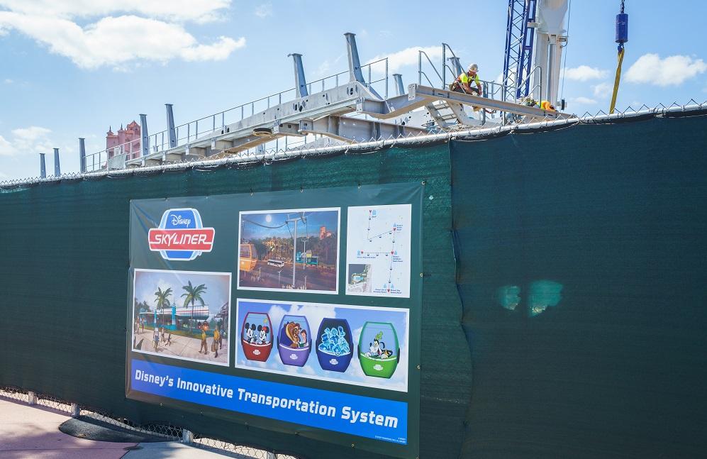 Skyliner Construction Walt Disney World