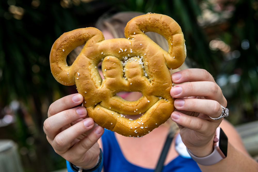 Mickey-Shaped Pretzel at Magic Kingdom