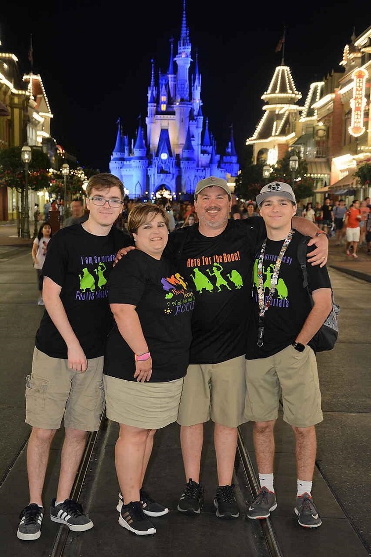 Alisa Sullivan and Family at Magic Kingdom