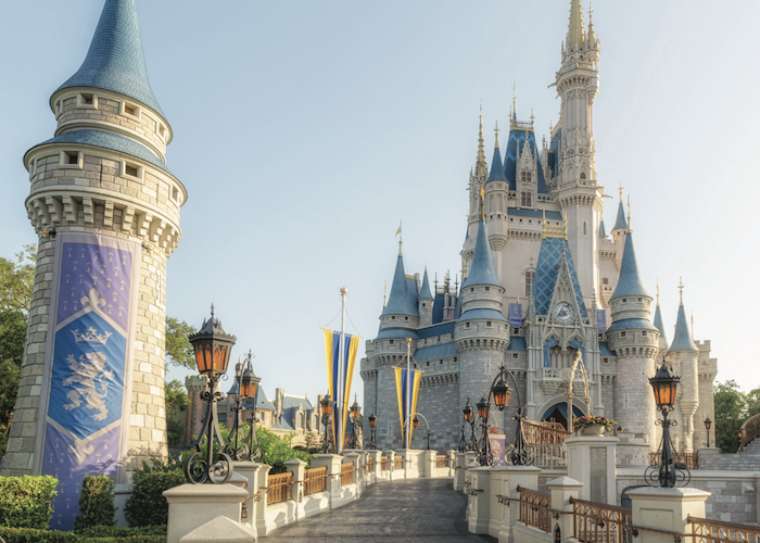 cinderella castle in the morning