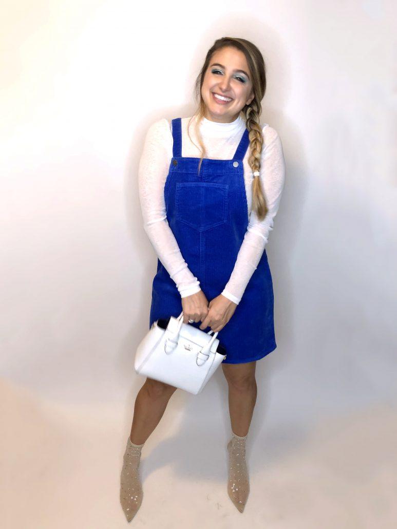 Elsa DisneyBound, White Shirt, Overalls