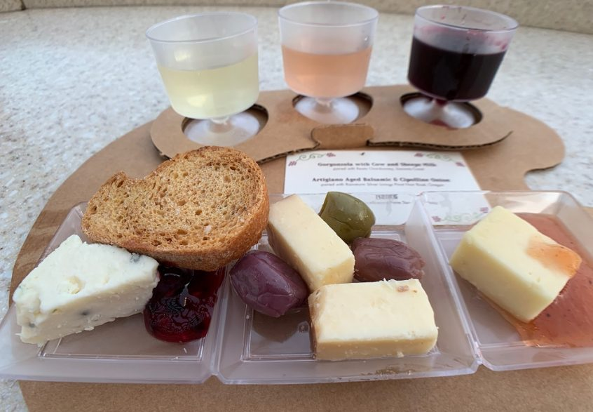 Artist Palette of Wine and Cheese EPCOT food and wine festival