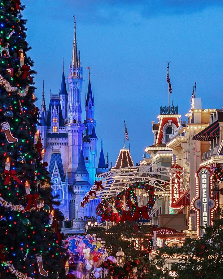 Christmas Magic Kingdom Cinderella Castle Christmas Tree Rich Ramos