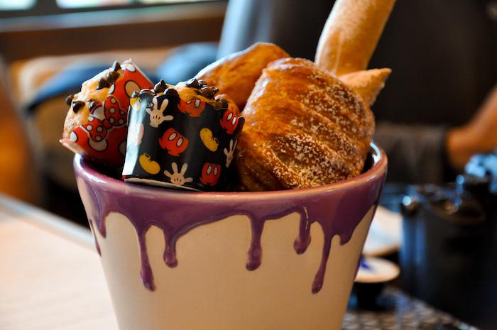 Pastry paint bucket from Breakfast a la Art at Topolino's Terrace