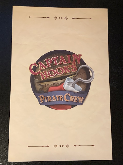 Captain Hook's Pirate Crew menu front at Disney's Beach Club Resort by Danny shuster