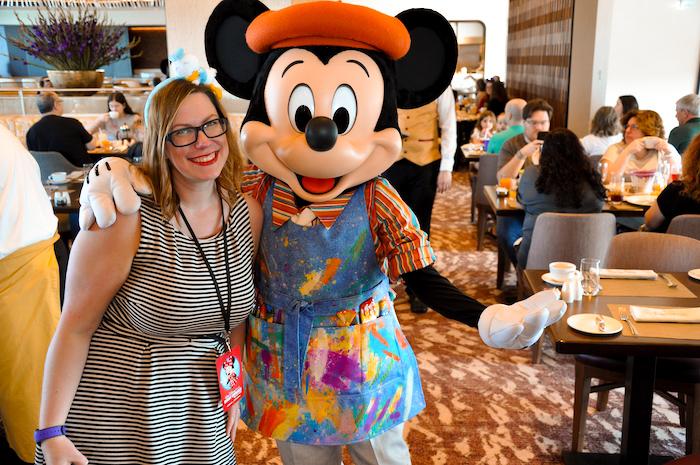 Posing with Painter Mickey