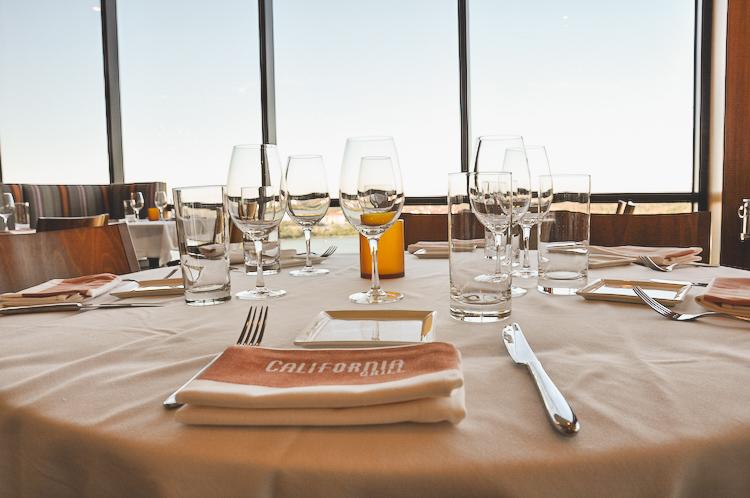California Grill table setting - most popular walt disney world restaurants