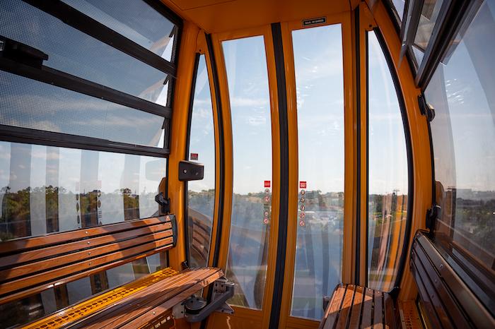 Inside Disney Skyliner Disney transport