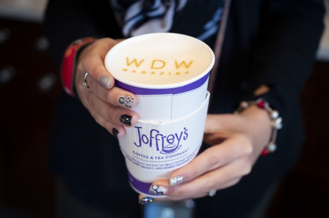 Joffrey's Coffee & Tea Co. latte art Disney Springs food