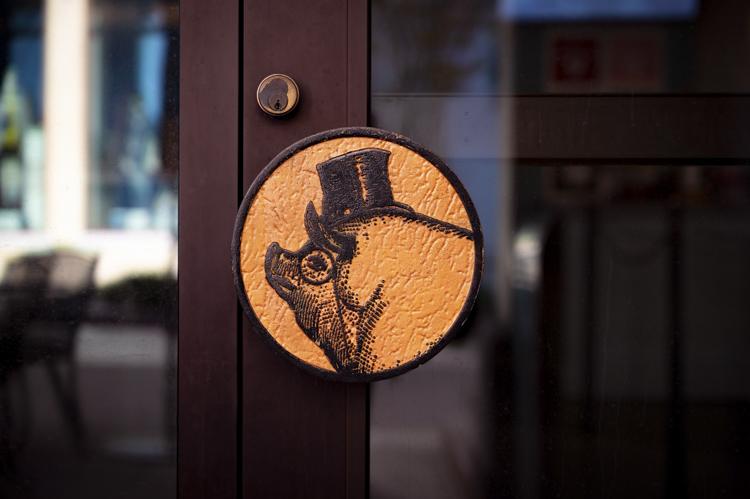 The Polite Pig door handle detail