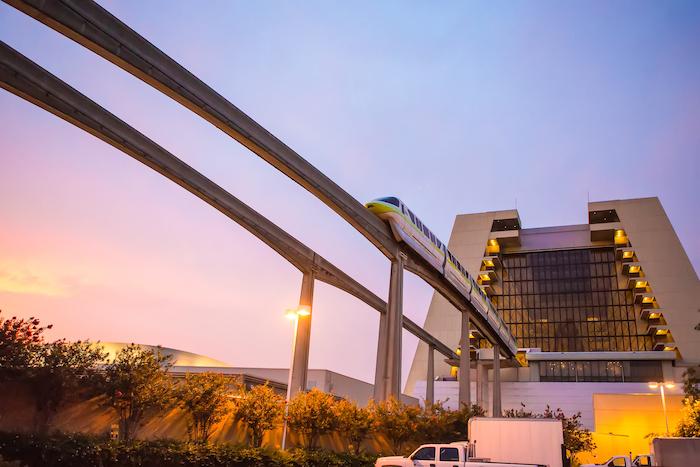Monorail through Contemporary Resort