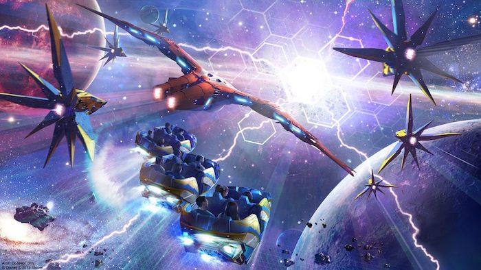 Cosmic Rewind coaster concept art epcot