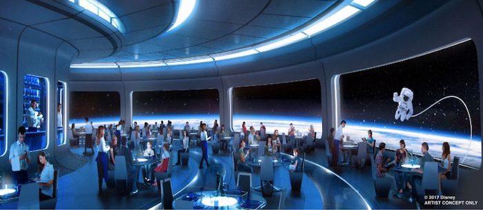 Space 220 restaurant reservations - epcot concept art