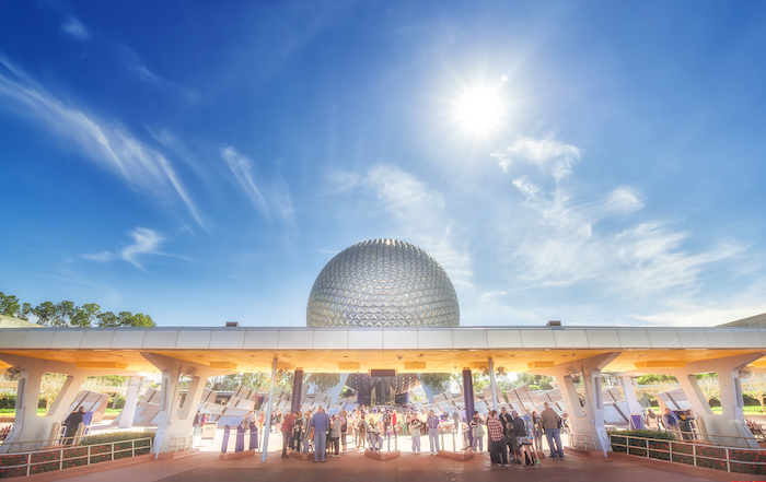 Epcot Changes entrance at epcot spaceship earth daytime