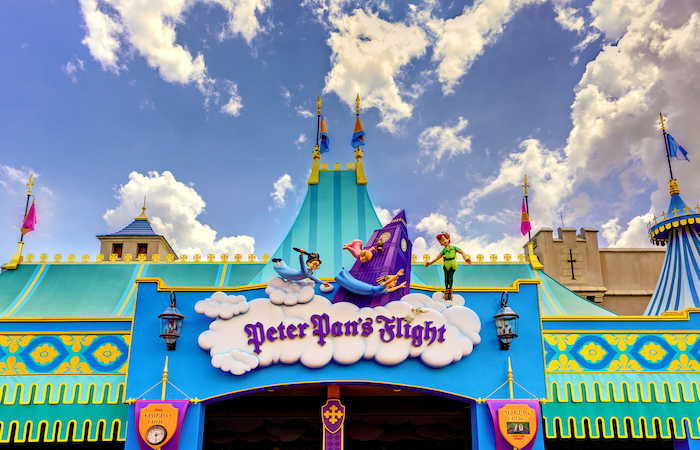 Peter Pan's Flight entrance