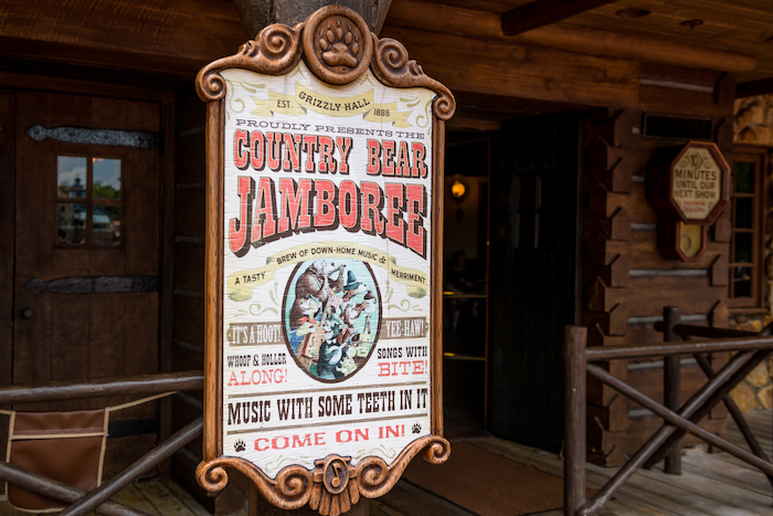 Country Bear Jamboree Sign